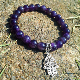 Hamsa & Amethyst Bracelet