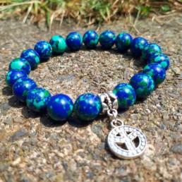 Peace & Lapis Malachite Bracelet