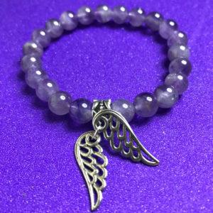 Angel Wings and Amethyst Bracelet