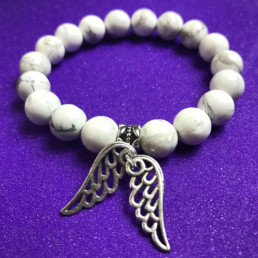 Angel Wings and Howlite Bracelet - NIA 9