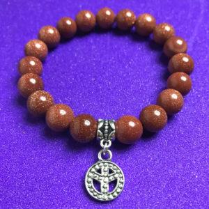 Peace and Gold Goldstone Bracelet - NIA 9.