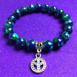 Peace and Lapis Malachite Bracelet - NIA 9