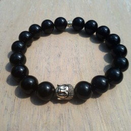 Buddha & Onyx Bracelet