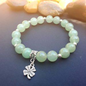 Four Leaf Clover & Aventurine Bracelet