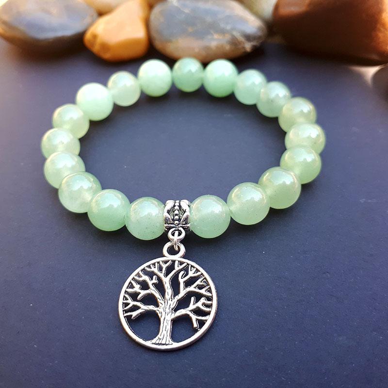 Tree of Life & Aventurine Bracelet