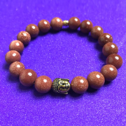 Buddha and Gold Goldstone Bracelet - NIA 9