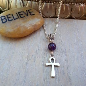 Ankh & Amethyst Necklace