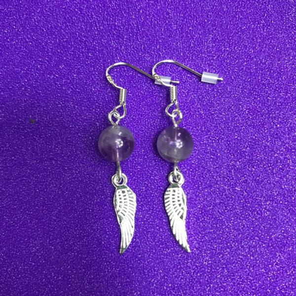 Amethyst and Wings Earrings - NIA 9