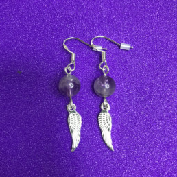 Amethyst and Wings Earrings - NIA 9