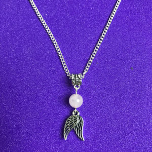 Guardian Angel & Rose Quartz Necklace - NIA 9
