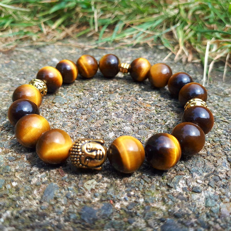 Tiger Eye & Buddha Bracelet