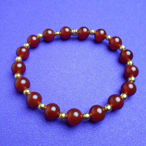 Carnelian and Gold Beads Bracelet - Nia 9