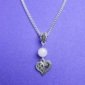 Rose Quartz and Heart Necklace - Nia 9