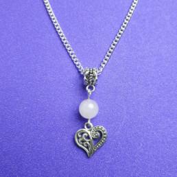 Rose Quartz and Heart Necklace - Nia 9