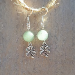 Aventurine and Four Leaf Clover Earrings - Nia 9