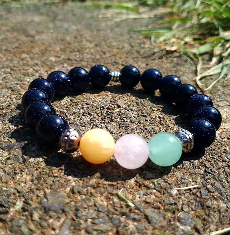 Love and Luck, Blue Goldstone Bracelet