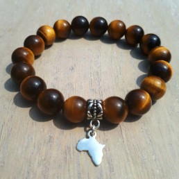 Africa and tiger eye Bracelet