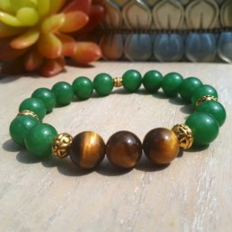 Lucky Tiger Eye and Aventurine Bracelet