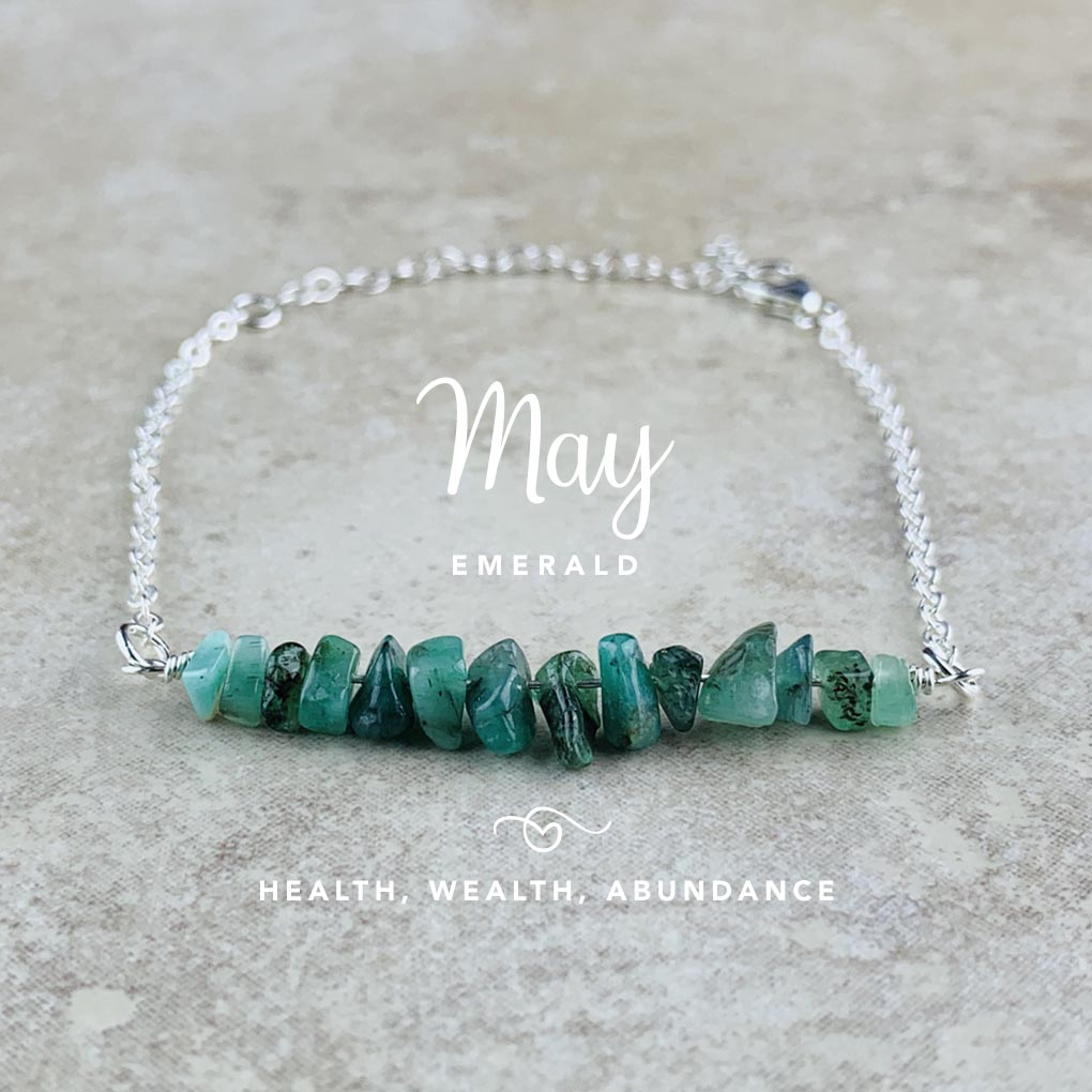 May Birthstone Bracelet, Emerald