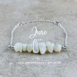 June Birthstone Bracelet, Pearl