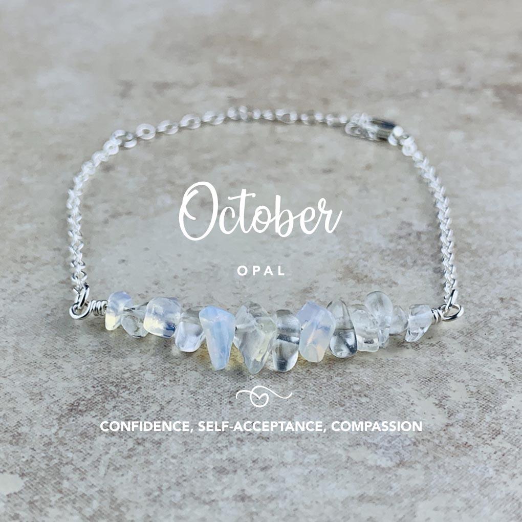 October Birthstone Bracelet, Opal