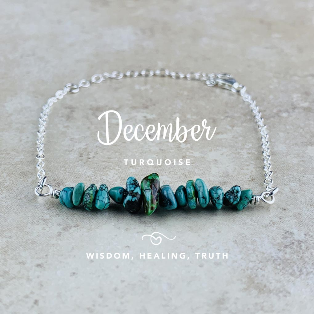 December Birthstone Bracelet, Turquoise