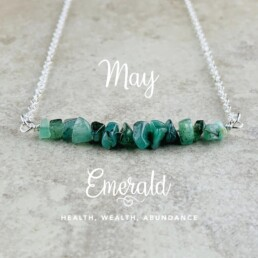May Birthstone Necklace, Emerald
