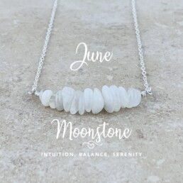 June Birthstone Necklace, Moonstone