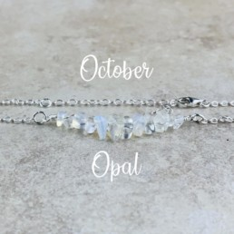October Birthstone Bracelet, Opal