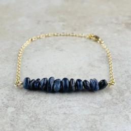 September Birthstone Bracelet, Sapphire - Gold