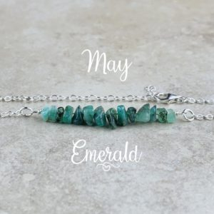 May Birthstone Bracelet, Emerald