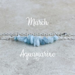 March Birthstone Bracelet, Aquamarine