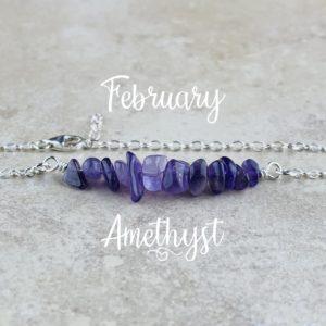 February Birthstone Bracelet, Amethyst