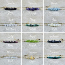 Nia9 Birthstone Jewellery Bracelet Collection