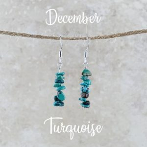 December Birthstone Earrings, Turquoise