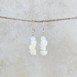 June Birthstone Earrings, Pearl - Gold