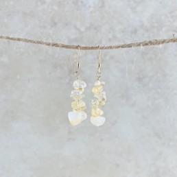 November Birthstone Earrings, Citrine - Gold
