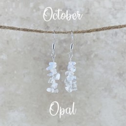 October Birthstone Earrings, Opal