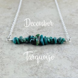 December Birthstone Necklace, Turquoise