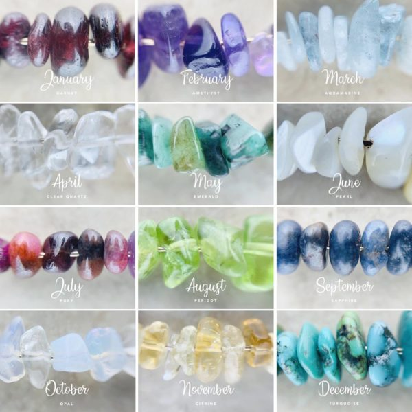 Nia9 Birthstone Jewellery Collection Close ups
