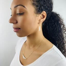 Raw Crystal - Birthstone Necklace & Earrings