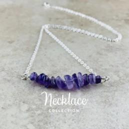 Nia9 Jewellery Raw Crystal Birthstone Necklace