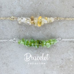 Nia9 Jewellery Raw Crystal Birthstone Bracelet