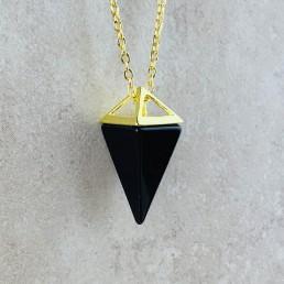 onyx pyramid necklace 2