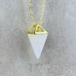 clear quartz pyramid necklace