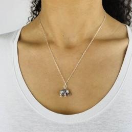 elephant necklace model