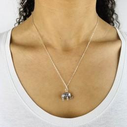 Elephant necklace model2