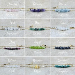 Nia9 Jewellery Birthstone Bracelet Collection