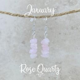 Rose Quartz Birthstone Earrings1