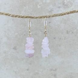 Rose quartz Birthstone Earrings